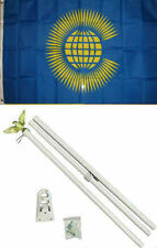 3x5 Commonwealth of Nations Flag White Pole Kit Set 3'x5'