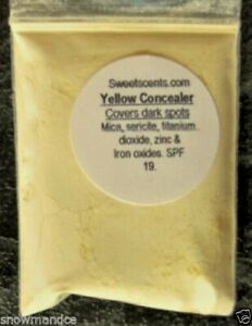 Sweetscents MINERAL MAKEUP~1t~YELLOW~MATTE~ CONCEALER~CORRECTOR~EYES~REFILL