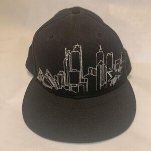San Jose Sharks New Era 59 Fifty Baseball Cap Black Skyline Embroidery 7 5/8