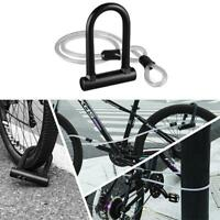 MTB Road Bike Bicycle Anti-Theft Heavy Duty Security Tool U Shape Lock w/ 3 Keys