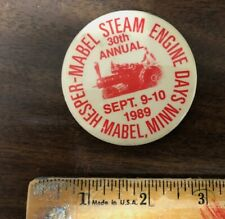 New listing Vintage Old Hesper Mabel Steam Engine Railroad Train 30th Annual Pin Pinback 89