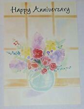 1 Anniversary Greeting Card/Envelope Flowers Happy Love Reflect Bright Share Joy