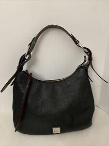 Dooney & Bourke Large Hobo Black Pebbled Leather Shoulder Bag