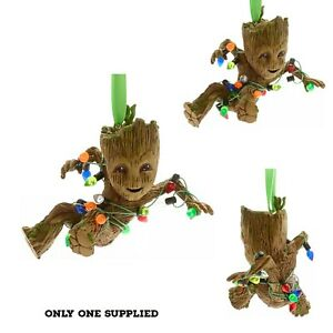 Disney Guardians Of The Galaxy GROOT festive Christmas Hanging Ornament New