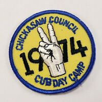 Vintage 1974 Cub Day Camp Chickasaw Council Boy Scouts of America BSA Patch