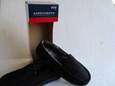 Saddlebred Slippers Size 8-9 Moccasin  Black Memory Foam Outdoor Sole NIB $25.00