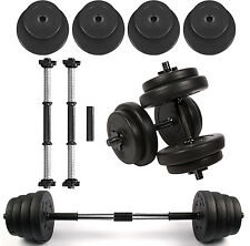 Vinyl Dumbbell Set Fitness Exercise Home Gym Bicep Weight Training 10kg