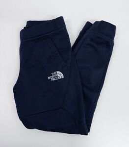 The North Face Blue Jogging Bottoms Pants Size M Medium Boys Youth Fleece Lined