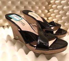 Michael Kors PW14A Palm Beach Wedge Sandal Black Color PM14A