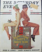 NORMAN ROCKWELL FRAMED JUNE 1937 Saturday Evening Post COVER GAIETY DANCE TEAM