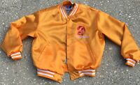 RARE VINTAGE SWINGSTER TAMPA BAY BUCCANEERS BUCS NFL FLEECE NYLON JACKET XL