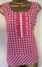 New* Pink Gingham Check Print Pure Cotton Casual Top. Marks & Spencer, Size 12