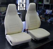LINERS asientos COCHE ASIAM PORSCHE 911 Solamente delanteros Algodón blanco