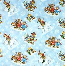 Patchworkstoff Snow Bear Kinderstoffe Patchwork Stoffe Weihnachtsstoffe Teddybär
