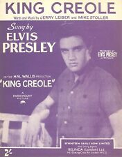 ORIGINAL Elvis Presley SHEET MUSIC - King Creole - UK - Mint