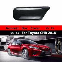 Für Toyota CHR 2018 Innere Armlehne Box Cover Black Carbon Fiber ABS Trim Fits