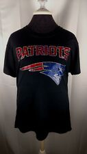 Women's New England Patriots spangle Football V-neck T shirt rhinestone faux