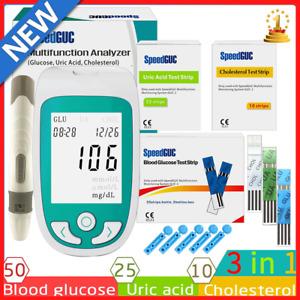 3 in 1 Multifunction Cholesterol Uric Acid Blood Glucose Monitor Glucometer Kit
