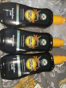 3 Australian Gold Oil Exotic 8 Ounce Spray With Carrot & Teatree Oils C7