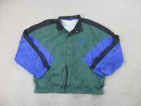 VINTAGE Nike Jacket Adult 2XL XXL Green Blue Swoosh Windbreaker Mens 90s B88*