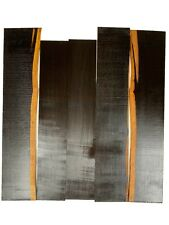 """5 Pack, African Blackwood Thin Stock Lumbers/Wood Crafts 20""""x3-5/8""""x1/8& #034; #126"""