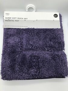 M&S  Super soft Quick  Dry Pedestal Mat (Aubergine)BRAND NEW + FREE DELIVERY 🚚