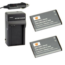 DSTE 2x CT-3650 Battery + Charger for Contour GPS HD 1080P ContourHD Camcorder