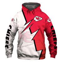 Kansas City Chiefs Football Team Hoodie Hooded Sweatshirt Jacket gift for fan
