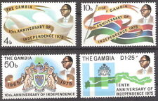 Gambia 1975 10th Anniversary Independence MNH (SC# 315-318)