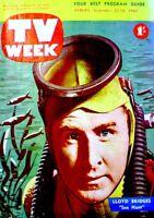 TV Guide 1960 Sea Hunt Lloyd Bridges Ingrid Bergman International VG/EX COA RARE