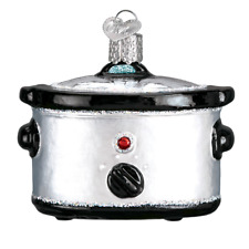 """""""Slow Cooker"""" (32326)X Old World Christmas Glass Ornament w/OWC Box"""