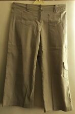 George Ladies Cropped Trousers Straight Leg Beige Size UK 14 in VGC