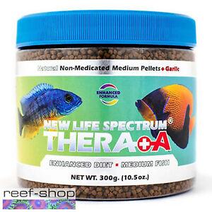 New Life Spectrum THERA +A Medium Pellet 300g Fish Food Fast Free USA Shipping