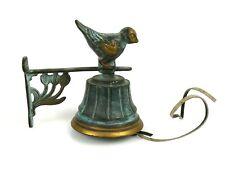 Art Nouveau Brass Wall Fixed Bird Flower Door Bell         205