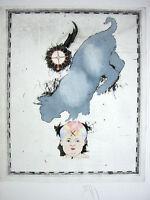 DONALD SAFF - Grey Cat,  Farblithografie - HANDSIGNIERT, NUM. - VK: 800 Eur