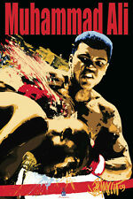Muhammad Ali Blacklight Poster AMAZING COLORS! BLACK LIGHT licensed BRAND NEW