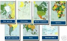 Continent Maps Educational Geography - 7 POSTER SET