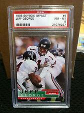 1995 SkyBox Impact # 5 Jeff George PSA NM/MT 8