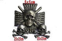 Lot 1 croix de feu (reproduction)+ 2 têtes de mort (fixation mode pin's)