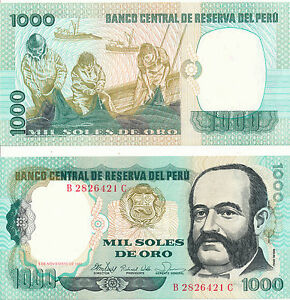 Peru - 1000 Intis 5. 11. 1981 UNC - Pick 122a