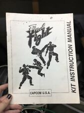 Capcom FINAL FIGHT Arcade Video Game Manual - good used original