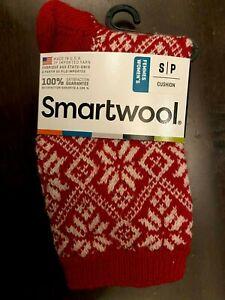 Smartwool Everyday Traditional Snowflake Merino Wool Socks Crimson Red Size S