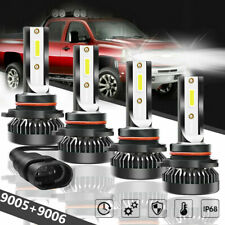9005+9006 240W 25800LM Combo LED Headlight High/Low Beam 6000K White 4 Bulbs Kit