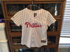 cd6b824d3 Cole Hamels Philadelphia Phillies Majestic Sewn World Series Jersey SZ  Youth M