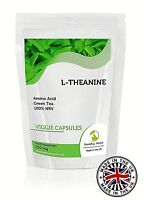 L-Theanine 250mg Amino Acid Green Tea Veg Capsules