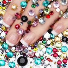 500 Mixed Rhinestones - Nail Art Acrylic Gems Face & Body Craft Card making