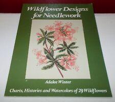 1979 Oxmoor House WILDFLOWER DESIGNS FOR NEEDLEWORK Paperback Book CrossStitch ^