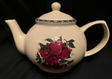 Home and Garden Party Stoneware Apple Pattern Coffee Tea Pot 4 Cup Unused