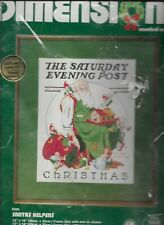 """Dimensions SANTA'S HELPERS,Counted Cross Stitch Kit,MPN 8300, Fin Size 15 X 18"""""""