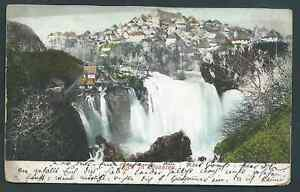 CASCADES BOSNIA YUGOSLAVIA 1905 TATTY POSTCARD NEEDS CLEANING SEE BOTH SCANS